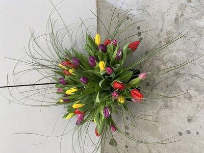 tulpenboeketje kleurenmix